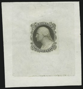 Sale Number 890, Lot Number 68, 1851 Issue 3c Die Essay on Proof Paper, Printed Thru a Mat (11-E17c), 3c Die Essay on Proof Paper, Printed Thru a Mat (11-E17c)