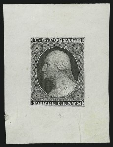 Sale Number 890, Lot Number 71, 1851 Issue 3c Black, Die Essay on India (11-E22), 3c Black, Die Essay on India (11-E22)