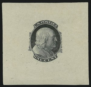 Sale Number 890, Lot Number 83, 1861 Issue 1c Blue, Die Essay on Old Proof Paper (63-E3a), 1c Blue, Die Essay on Old Proof Paper (63-E3a)