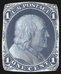 Sale Number 890, Lot Number 84, 1861 Issue 1c Blue, Die Essay on India, Cut to Shape (63-E9a), 1c Blue, Die Essay on India, Cut to Shape (63-E9a)