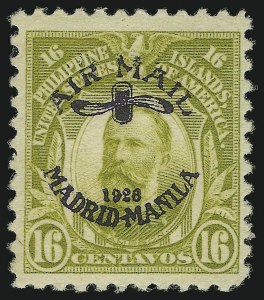 Sale Number 895, Lot Number 422, United States Possessions (Philippines)PHILIPPINES, 1926, 16c Light Olive Green, Air Post (C7), PHILIPPINES, 1926, 16c Light Olive Green, Air Post (C7)