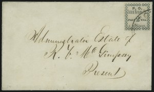 Sale Number 896, Lot Number 732, Confederate States (PostmastersBaton Rouge La., 2c Green (11X1), Baton Rouge La., 2c Green (11X1)