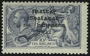 Sale Number 897, Lot Number 1131, Greece thru ItalyIRELAND, 1922, 10sh Gray Blue (38; SG 46), IRELAND, 1922, 10sh Gray Blue (38; SG 46)