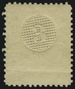 Sale Number 900, Lot Number 268, 1867-68 Grilled Issue (National Bank Note Co.)[Unstated Value] Grilled Circle on White Wove, Perforated 12 (79-E13), [Unstated Value] Grilled Circle on White Wove, Perforated 12 (79-E13)
