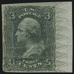 Sale Number 900, Lot Number 288, 1867-68 Grilled Issue (National Bank Note Co.)3c Washington, Plate Essays, Safety Overprints (79-E26), 3c Washington, Plate Essays, Safety Overprints (79-E26)