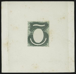 Sale Number 900, Lot Number 373, Bank Note Issues (Continental Bank Note Co.)3c Green, Columbia Portrait, Large Die Essay on India (147-E1B), 3c Green, Columbia Portrait, Large Die Essay on India (147-E1B)