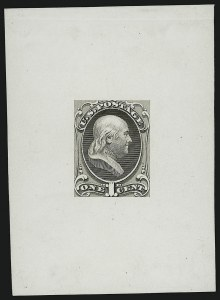 Sale Number 900, Lot Number 379, Bank Note Issues (National Bank Note Co.)1c Franklin, Large Die Essay on White Glazed Paper (145-E8b), 1c Franklin, Large Die Essay on White Glazed Paper (145-E8b)