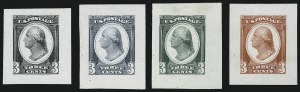 Sale Number 900, Lot Number 436, Other Bank Note Issue Essays3c Washington, Die Essay on Proof Paper (184-E14c), 3c Washington, Die Essay on Proof Paper (184-E14c)