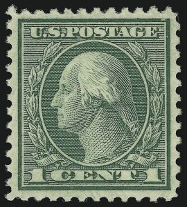 Sale Number 902, Lot Number 1295, 1908-23 Issues (Scott 527 thru 545)1c Green, Rotary (545), 1c Green, Rotary (545)