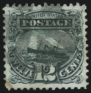 Sale Number 904, Lot Number 107, 1869 Pictorial Issue12c Green (117), 12c Green (117)