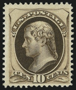 Sale Number 904, Lot Number 158, 1870-88 Bank Note Issues (Scott 179-218)10c Brown, With Secret Mark (188), 10c Brown, With Secret Mark (188)