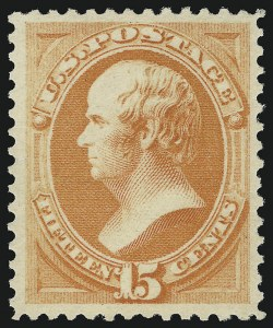 Sale Number 904, Lot Number 160, 1870-88 Bank Note Issues (Scott 179-218)15c Red Orange (189). Mint N.H, 15c Red Orange (189). Mint N.H