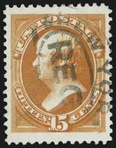 Sale Number 904, Lot Number 162, 1870-88 Bank Note Issues (Scott 179-218)15c Red Orange (189), 15c Red Orange (189)