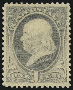 Sale Number 904, Lot Number 168, 1870-88 Bank Note Issues (Scott 179-218)1c Gray Blue (206), 1c Gray Blue (206)