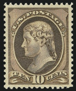 Sale Number 904, Lot Number 172, 1870-88 Bank Note Issues (Scott 179-218)10c Brown (209), 10c Brown (209)