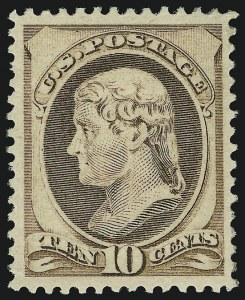 Sale Number 904, Lot Number 174, 1870-88 Bank Note Issues (Scott 179-218)10c Brown (209), 10c Brown (209)