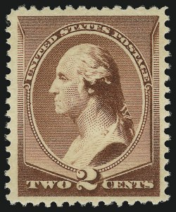 Sale Number 904, Lot Number 175, 1870-88 Bank Note Issues (Scott 179-218)2c Red Brown (210), 2c Red Brown (210)