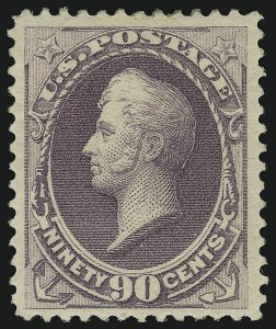 Sale Number 904, Lot Number 181, 1870-88 Bank Note Issues (Scott 179-218)90c Purple (218), 90c Purple (218)
