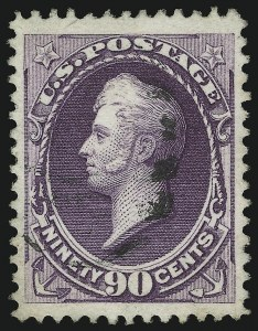 Sale Number 904, Lot Number 182, 1870-88 Bank Note Issues (Scott 179-218)90c Purple (218), 90c Purple (218)