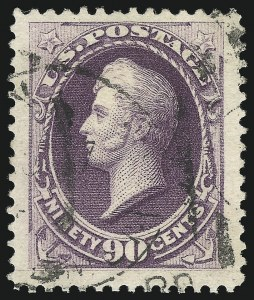 Sale Number 904, Lot Number 183, 1870-88 Bank Note Issues (Scott 179-218)90c Purple (218), 90c Purple (218)