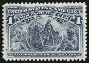 Sale Number 904, Lot Number 208, 1893 Columbian Issue1c Columbian (230), 1c Columbian (230)