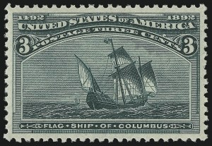 Sale Number 904, Lot Number 213, 1893 Columbian Issue3c Columbian (232), 3c Columbian (232)