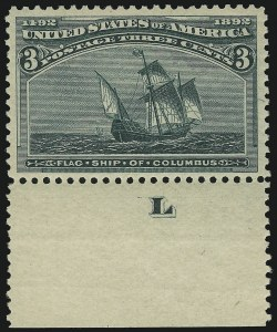 Sale Number 904, Lot Number 214, 1893 Columbian Issue3c Columbian (232), 3c Columbian (232)