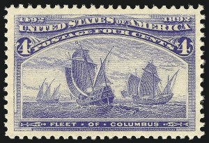 Sale Number 904, Lot Number 215, 1893 Columbian Issue4c Columbian (233), 4c Columbian (233)
