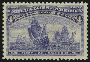 Sale Number 904, Lot Number 216, 1893 Columbian Issue4c Columbian (233), 4c Columbian (233)