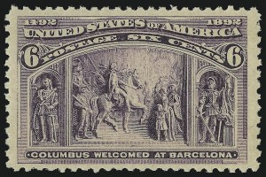 Sale Number 904, Lot Number 218, 1893 Columbian Issue6c Columbian (235), 6c Columbian (235)