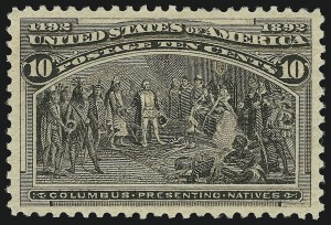 Sale Number 904, Lot Number 220, 1893 Columbian Issue10c Columbian (237), 10c Columbian (237)