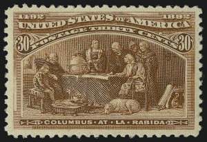 Sale Number 904, Lot Number 223, 1893 Columbian Issue30c Columbian (239), 30c Columbian (239)