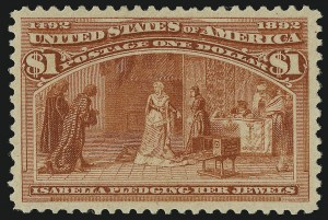 Sale Number 904, Lot Number 225, 1893 Columbian Issue$1.00 Columbian (241), $1.00 Columbian (241)