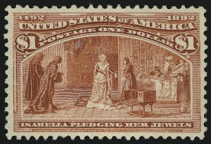 Sale Number 904, Lot Number 226, 1893 Columbian Issue$1.00 Columbian (241), $1.00 Columbian (241)
