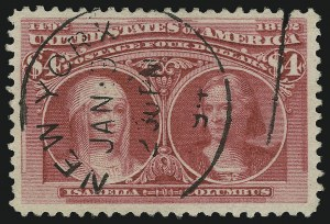 Sale Number 904, Lot Number 231, 1893 Columbian Issue$4.00 Columbian (244), $4.00 Columbian (244)