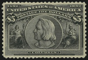 Sale Number 904, Lot Number 232, 1893 Columbian Issue$5.00 Columbian (245), $5.00 Columbian (245)