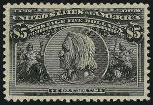 Sale Number 904, Lot Number 233, 1893 Columbian Issue$5.00 Columbian (245), $5.00 Columbian (245)