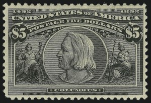 Sale Number 904, Lot Number 234, 1893 Columbian Issue$5.00 Columbian (245), $5.00 Columbian (245)