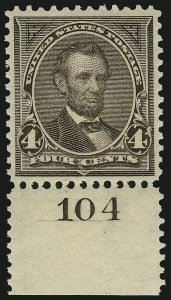 Sale Number 904, Lot Number 261, 1894-98 Bureau Issues4c Dark Brown (269), 4c Dark Brown (269)