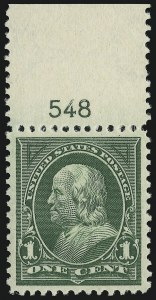 Sale Number 904, Lot Number 279, 1894-98 Bureau Issues1c Deep Green (279), 1c Deep Green (279)