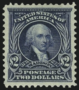 Sale Number 904, Lot Number 334, 1902-08 Issues$2.00 Dark Blue (312), $2.00 Dark Blue (312)