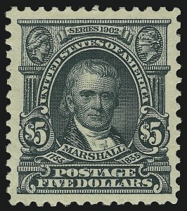 Sale Number 904, Lot Number 335, 1902-08 Issues$5.00 Dark Green (313), $5.00 Dark Green (313)
