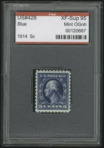 Sale Number 904, Lot Number 406, 1908-23 Issues (Scott 405 thru 420)5c Blue (428), 5c Blue (428)