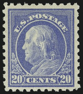 Sale Number 904, Lot Number 414, 1908-23 Issues (Scott 405 thru 420)20c Ultramarine (438), 20c Ultramarine (438)