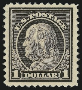 Sale Number 904, Lot Number 454, 1908-23 Issues (Scott 487 thru 518)$1.00 Violet Brown (518), $1.00 Violet Brown (518)