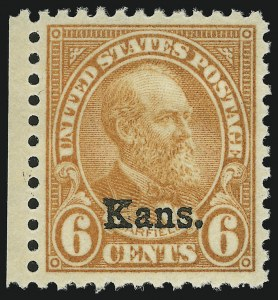 Sale Number 904, Lot Number 477, Later Issues (Scott 660 thru 834a)6c Kans. Ovpt. (664), 6c Kans. Ovpt. (664)