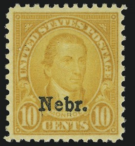 Sale Number 904, Lot Number 487, Later Issues (Scott 660 thru 834a)10c Nebr. Ovpt. (679), 10c Nebr. Ovpt. (679)