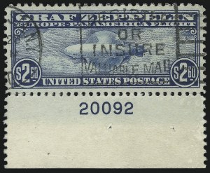 Sale Number 904, Lot Number 505, Air Post$2.60 Graf Zeppelin (C15), $2.60 Graf Zeppelin (C15)