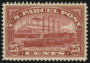 Sale Number 904, Lot Number 538, Back-of-Book Issues (Parcel Post)25c Parcel Post (Q9), 25c Parcel Post (Q9)