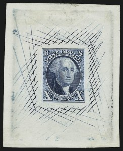 Sale Number 905, Lot Number 1004, Essays and Proofs10c Deep Blue, Large Die Trial Color Proof on India (2TC1), 10c Deep Blue, Large Die Trial Color Proof on India (2TC1)
